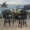 Deco 5-piece Barstool Set in Spa Blue