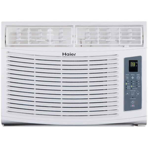 Haier ESA410N 10,000 BTU 115V Window-Mounted Air Conditioner and MagnaClik Remote with Braille 17846071