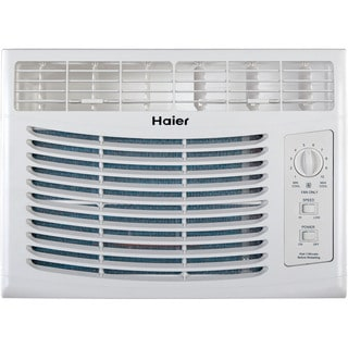 Haier HWF05XCL-L 5,000 BTU 115V Window-Mounted Air Conditioner with Mechanical Controls