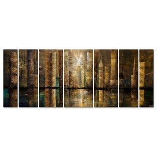 Downtown by Osnat Metal Wall Art