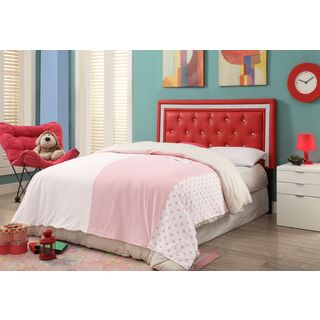 Breen Red and Crystal Tufted Full Headboard