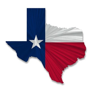 Texas State Flag by Ash Carl Metal Wall Art