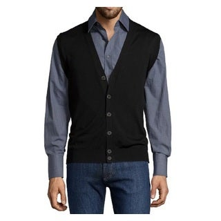 Ermenegildo Zegna Navy Wool Sweater Vest