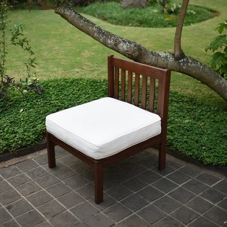 Como Sectional Mahogany Side Chair with White Seat Cushion