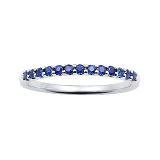 Boston Bay Diamonds 14k White Gold Sapphire Stackable Band Ring