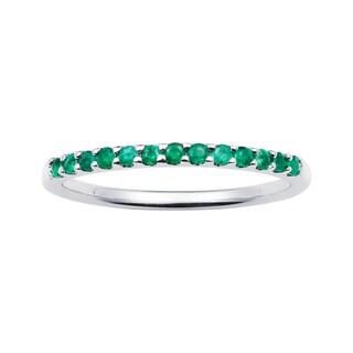 Boston Bay Diamonds 14k White Gold Emerald Stackable Band Ring