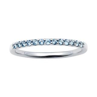 Boston Bay Diamonds 14k White Gold Aquamarine Stackable Band Ring
