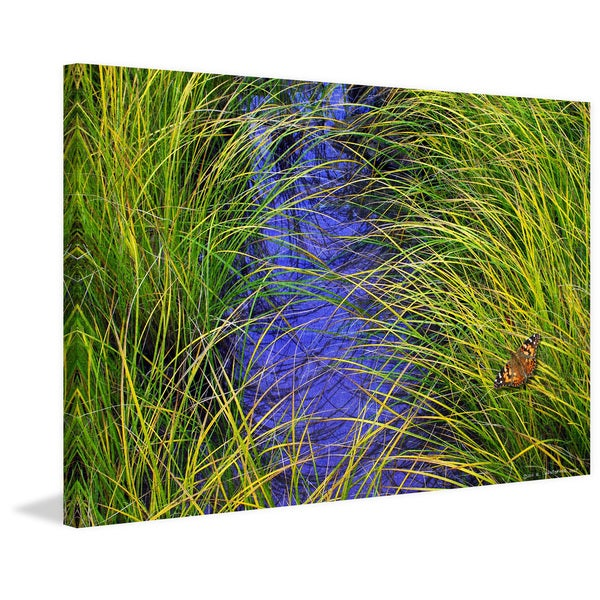 """Marmont Hill - """"Grass Over the Brook"""" by Chris Vest Painting Print on Canvas"""