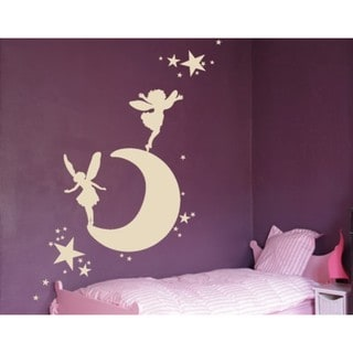 Moon with Elves Wall Decal
