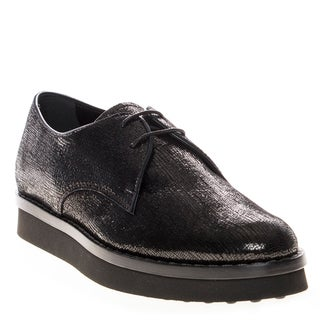 Tod's Metallic Textured Leather Oxfords