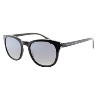 Marc by Marc Jacobs MMJ 458/S A8V Black Grey Plastic Square Sunglasses Silver Mirror Lens