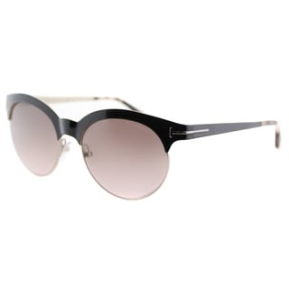 Tom Ford Angela TF 438 01F Black And Gold Round Metal Sunglasses