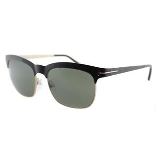 Tom Ford Elana TF 437 05R Black And Gold Square Metal Sunglasses