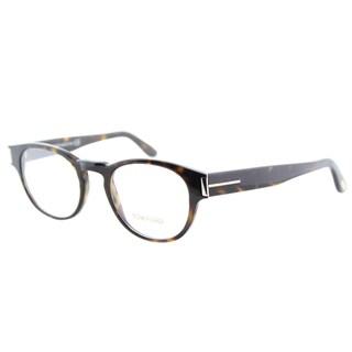 Tom Ford FT 5275 056 Vintage Round Dark Tortoise Plastic Eyeglasses 50mm