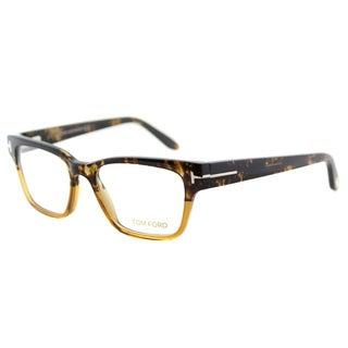 Tom Ford FT 5288 050 Brown Horn Amber Plastic Eyeglasses 49mm