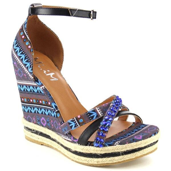 MI.IM OSTRAVA Printed Wedge Sandal