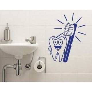 Brush Your Teeth Wall Decal