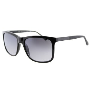 Guess GU 6861 01C Black Plastic Square Sunglasses Grey Gradient Lens