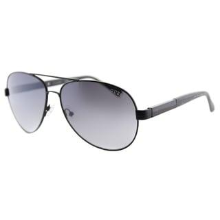 Guess GU 6862 05C Black Metal Aviator Sunglasses Grey Gradient Lens