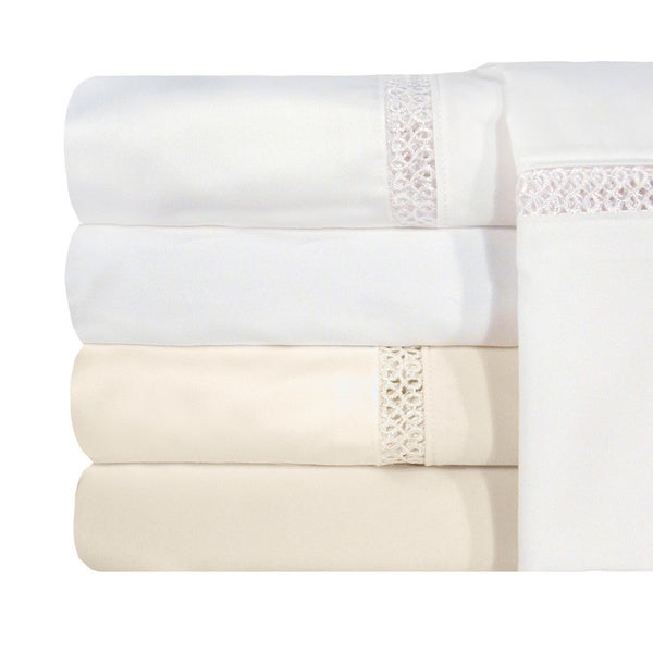 Grand Luxe Egyptian Cotton Payton 1200 Thread Count Fitted Sheet Cal-King Size in White (As Is Item)