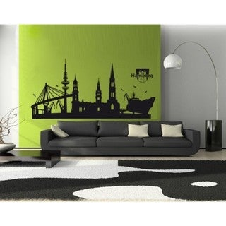 Hamburg City Skyline Cityscape Wall Decal