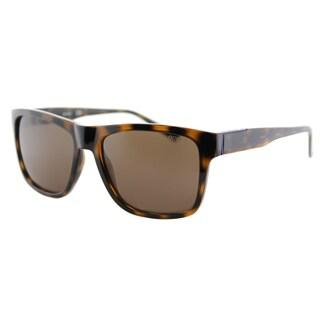 Guess GU 6882 52E Dark Havana Plastic Square Sunglasses Brown Lens