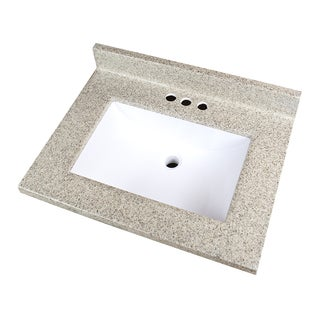 "Two Tone Cappuccino Cultured Marble Vanity Sink Top (25""x19"")"