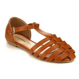 Cut Out Flat Sandals