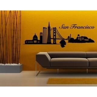 San Francisco City Skyline Cityscape Wall Decal 17866517