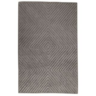 Hand-Tufted Indo Union Square Grey Rug (5'0 x 7'0)
