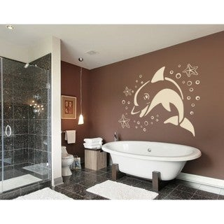 Jumping Dolphin Wall Decal