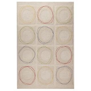 M.A.Trading Hand-Tufted Indo Circa White Rug (5'0 x 7'0)