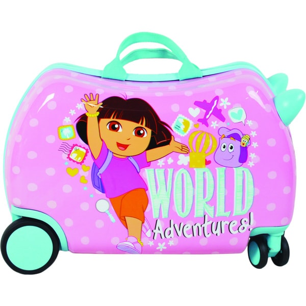 Dora the Explorer Cruizer Adventures Ride-On 16-inch Hardside Rolling Suitcase