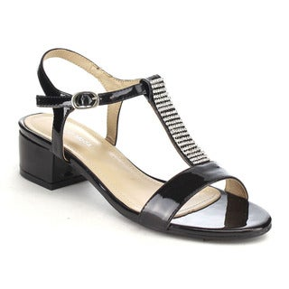 Crystal T-strap Sandals