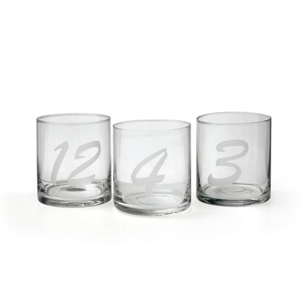 Set of 12 Numbered Tumblers