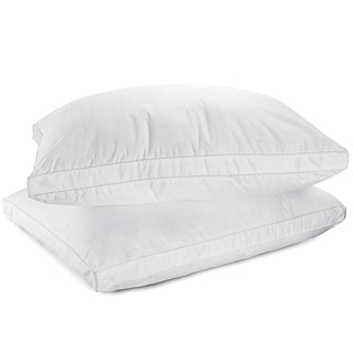 Five Star 300 Thread Count Jacquard Microfiber Gusseted Pillow (Set of 2)