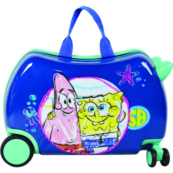 Spongebob Cruizer Friends Ride-On 16-inch Hardside Rolling Suitcase