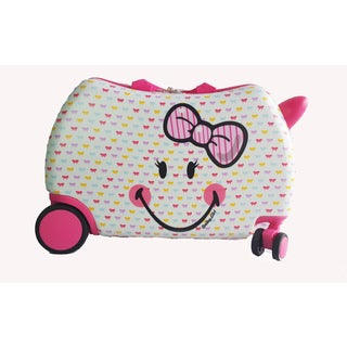 Smiley Cruizer Cutie Ride-On 16-inch Hardside Rolling Suitcase