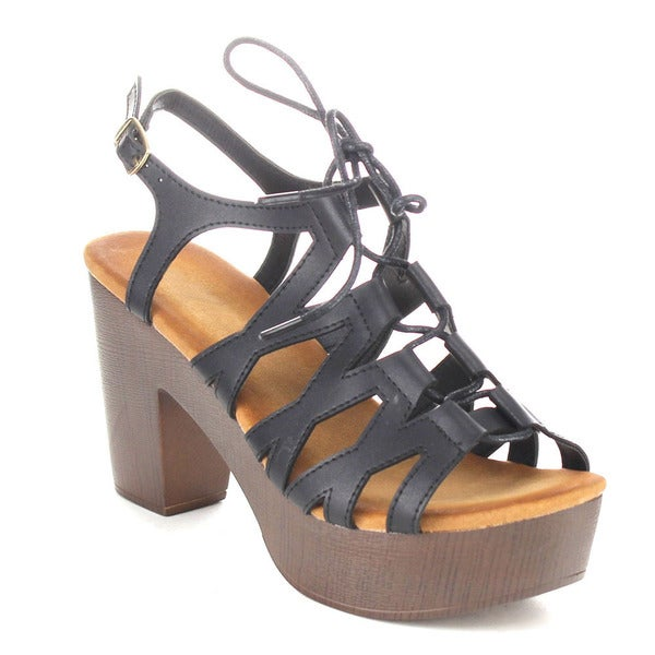Gladiator Lace Up Platform Sandals