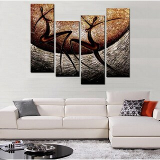 Hand-painted African Multi Panels Oil Painting