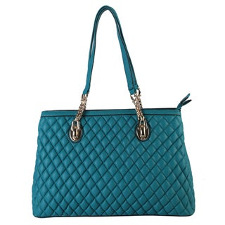 Rimen and Co. Quilted Faux Leather Tote