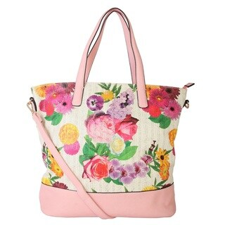 Rimen and Co. Floral Print Tote Bag