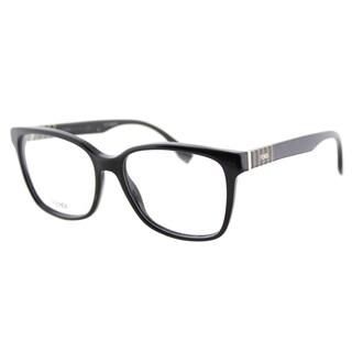 Fendi FF 0055 7SY Black Plastic Square Eyeglasses 54mm