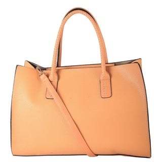 Diophy Faux Leather Simple Tote Bag