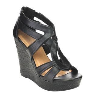Beston CC35 Women's Strappy Wedge Sandals