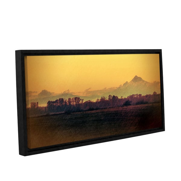 ArtWall Don Schwartz's 'Quiet Autumn Morning ' Gallery Wrapped Floater-framed Canvas