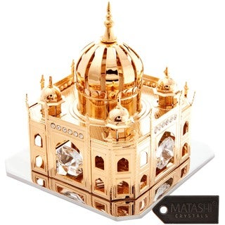 24k Goldplated Mosque Table Top Made with Genuine Matashi Crystals