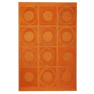 M.A.Trading Hand-Tufted Indo Circa Rust Rug (5'0 x 7'0)