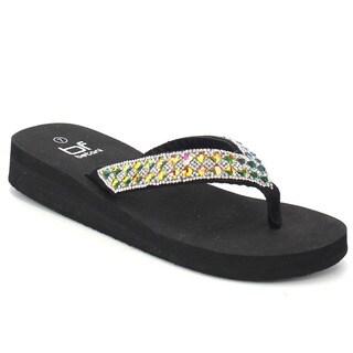 Beston FA94 Women's Flip Flop Wedge Sandals