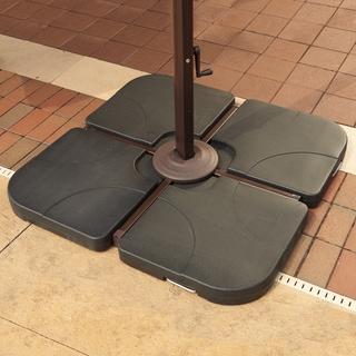 Resin Cross-arm 35-pound Ebony Umbrella Base Weights (4-piece Set)